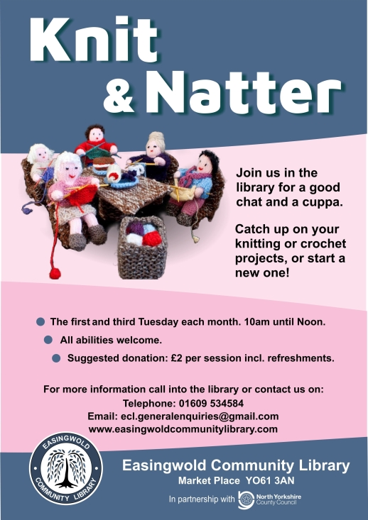 ECL Knit and Natter Poster A4